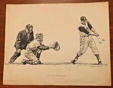 "Pittsburgh Pirate 1960-61 Robert Riger Litho ""Maz"" Ford Motor Co.Baseball Print"