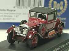 BOS Rolls Royce Silver Ghost Doctors Coupe, dunkelrot - 87151 - 1/87