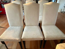dining chairs 8 - used - high backed - upcycle - wooden legs