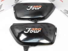 Honda CB 350 F Four side cover panel set + emblem set right left side repro New
