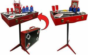 Fantasma Magic Table Wood Suitcase Set with 150 + Tricks Age 7+ Beginner Kit NEW