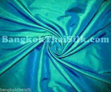 """GREEN SHOT BLUE TAFFETA Faux SILK FABRIC 60""""W GR8 for Bridesmaid Dress Curtain"""