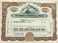 The Norwich Pharmacal Company > New York stock certificate share