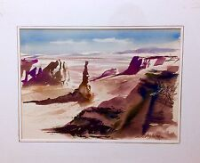 Rare Original Watercolor Art Signed By The Late Millard Wells Florida Watercolor