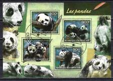 Animaux Pandas Centrafrique (263) série complète de 4 timbres oblitérés