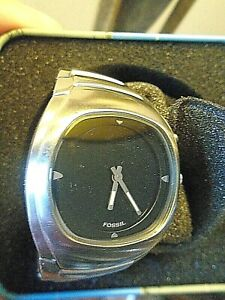 """FOSSIL """"BIG TIC"""" men's wristwatch Stainless steel/black face-water resistant- w"""