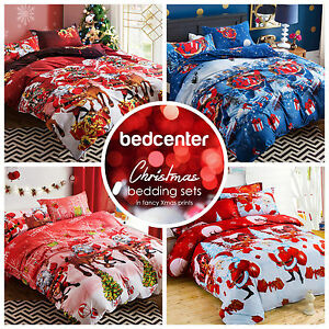 Red Santa Claus Christmas Bedding Twin Full Queen King Duvet Cover Set