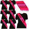Bright Pink Hen Party Sash Sashes Girls Do Night Out Accessories Wedding Bride