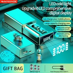 VANTEENIE Bluetooth Wireless Earbuds TWS Touch Control Waterproof 18D Music