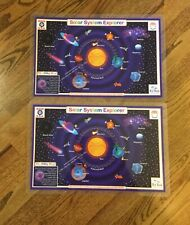 Lot of 2 Placemat Tot Talk Solar System Meal Dining Activity Entertainment Mat