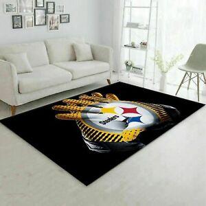 Pittsburgh Steelers Non-Slip Area Rug Fluffy Floor Mat Living Room Soft Carpet