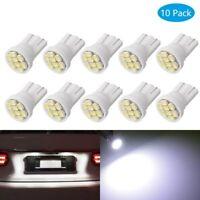 10 Lampade T10 LED 8SMD 1210 Luci Posizione e Targa BIANCO Per Fari Auto Interni