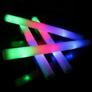 Party Flashing Multi Colour Glow Stick Foam LED Light Rave Baton Set