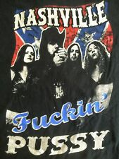 NASHIVLLE FUCKIN' PUSSY Sourpuss Clothing t shirt NASHVILLE PUSSY ** X-LARGE