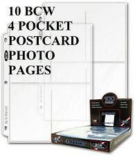 10 BCW 4  POCKET PAGE POSTCARDS  PHOTOS POST CARDS NEW
