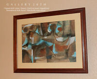 SUPERB! MID CENTURY MODERN EXPRESSIONIST ABSTRACT PAINTING! 1950'S ORIG. ART VTG