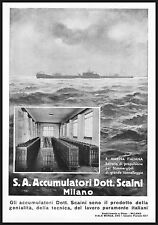 ACCUMULATORI DOTT. SCAINI MILANO MARINA SOMMERGIBILI BATTERIA PROPULSIONE 1933