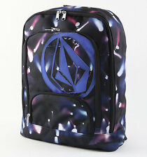 New Womens Girls Volcom Black Purple Schooly V Backpack School Bag Purse