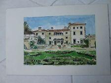 """VIZCAYA II, MIAMI, FL, Original Watercolor /15"""" x 20"""" (image 10 1/4"""" x 7""""),Mimi"""