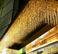 New Year 96 LED Curtain Icicle String Lights For Outdoor Christmas Twinkle Fairy