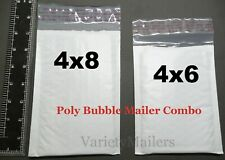 35 Small Poly Bubble Envelope Combo 4x6 Amp 4x8 Little Self Sealing Padded Mailers