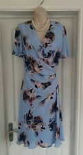 EASTEX Blue Chiffon Floral Dress Size 14 BNWT