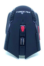 Proxinova Wireless Gaming Mouse Negro 2.4Ghz 1200DPI LED PC Laptop Profesional
