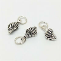 4 925 Sterling Silver Small Conch Sea Shell Charms 3D for Bracelet Necklace