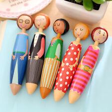 Cartoon Doll Design Ballpoint Pen Stationery School Office Supply Kids Gift