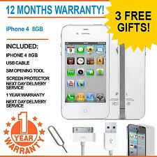 Apple Iphone 4 8 Gb EE Naranja T-mobile Virgin Mobile Smart Phone Blanco
