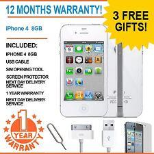 Apple IPHONE 4 8GB EE Arancione T-Mobile Virgin Mobile Smart Phone Bianco