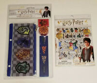 HARRY POTTER Wizarding World 4-Pc Stationery Set + Over 300 Stickers - NEW
