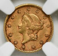 "1853 ""P"" Gold One Dollar Liberty Head NGC AU-55"