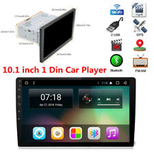 "10.1"" 1 DIN Android 7.1 Touch Screen Auto Car Stereo Radio Player 3G/4G WIFI GPS"