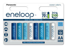 8 x Panasonic eneloop AA 2000 mAh Rechargeable Batteries Limited Edition Ocean