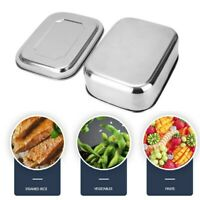 Food Container Stainless Steel Lunch Box With Subdivision Container Airtight AU