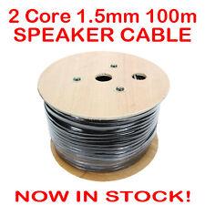 100m 2 Core Heavy Duty Speaker Cable 1.5mm Wire Lead 100 Metre Bulk Home Theatre