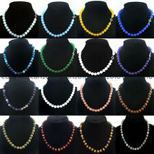 Wholesale 8/10/12mm Multiple Natural Gemstone Round Beads Necklace 18'' AAA