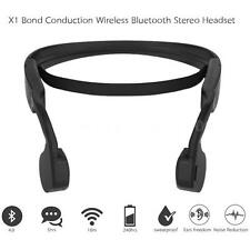 Bluetooth 4.0 Wireless Bone Conduction Headset Earphone for Smartphone PC Z9H5
