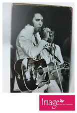 Black & White Vintage Style Elvis Presley Metal Home Decor Sign/Picture