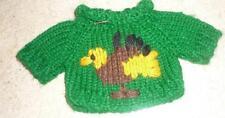 Green Sweater w/Turkey Motif Sweater for Bears/Dolls-Nwot