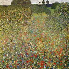 "Gustav Klimt, ""Poppy Field, 1907"",  giclee open edition print"