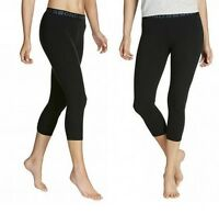 BONDS WOMENS BASIC 3/4 LEGGINGS GYM SPORTS PANTS COTTON BLACK S M L XL 2XL CZBJI