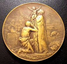ART NOUVEAU by GEORGE DUPRE / Religious / JESUS / BRONZE MEDAL 46 mm / M26