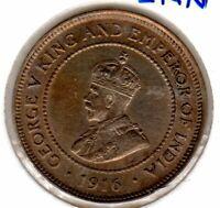Jamaica 1916 Halfpenny