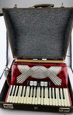 Akkordeon Hohner VERDI II ( 2 ) Vintage Piano accordion 96 Bass Bässe ROT