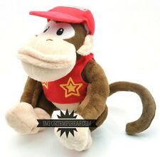 SUPER MARIO BROS DIDDY KONG PELUCHE wii u pupazzo new plush world donkey dixie