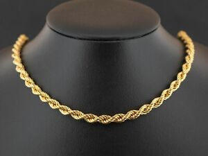 """(SO4) 9ct Yellow Gold Rope Chain 18"""" Necklace 8.4grams"""