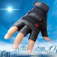 Men luxury Tactical Outdoor Sports Bike Bicycle Half Finger Leather gift Gloves