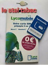 Carte Sim puce Lyca Mobile PréPayé sans engagement sans abonnement ✅ 0€ crédit✅